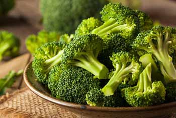 broccoli is very high in vitamin C