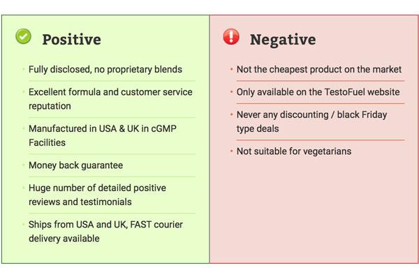 testofuel pros and cons